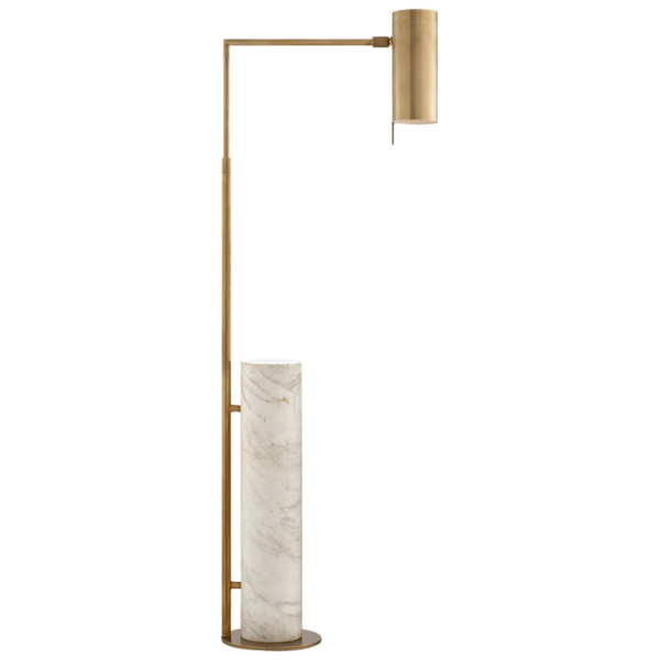 Bloomingdales; Alma Floor Lamp in Antique-Burnished Brass and White Marble, $Contact Dani